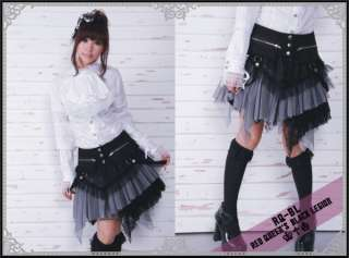 COSMETIC* Kera PUNK DOLLY 21034 gothic SKIRT+wrap BW