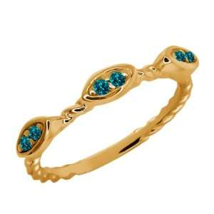 Round Green Topaz 18k Yellow Gold Ring Jewelry