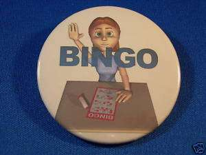 BINGO WINNER Button pin pinback badge NEW 2 1/4 lucky