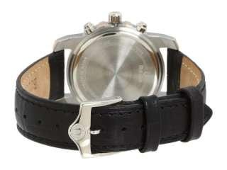 Bulova Womens Chronograph 7 Diamonds Silver White Dial Black Strap