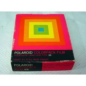 Rare Polaroid Type 88 Polacolor Land Film + Polaroid Pack