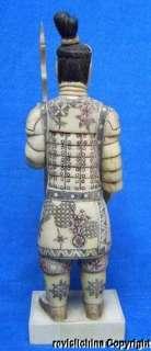 D267 Ox Bone Statue Emperor Qins Terra cotta Warrior