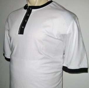 NEW 3XLT SEAN JOHN MENS SHIRT White Black Zipper 3XT