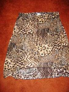 Womans Plus Size 2x 4x Fashion Bug Leopard/Animal Print Skirt/Blouse
