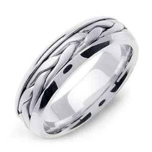 STEFANOS 14K White Gold Braided Wedding Band Ring Jewelry