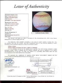 1972 Detroit Tigers Team Signed OAL Baseball JSA 26 Sig (SKU 255