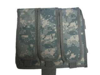 ACU Drop Leg Triple Magazine Pouch for Airsoft Gun Clips ~ Fits Most