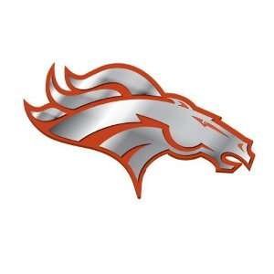 Denver Broncos NFL Football Team Orange & Chrome Plated Premium Metal