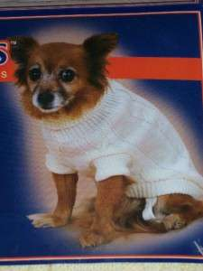 Pet Dog Sweater Coat Winter Clothing Large NEW ~U Pick