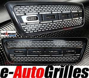 04 08 Ford F 150 Black Carbon Fiber Look+Raptor Style Full Replacement
