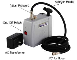 NEW AIRBRUSH KIT AIR COMPRESSOR CAKE DECORATING TATTOO