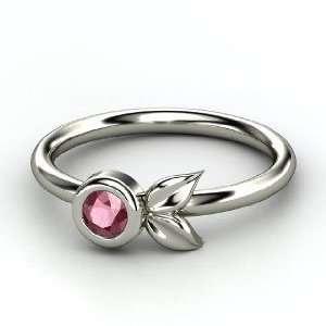Boutonniere Ring, Round Rhodolite Garnet Sterling Silver