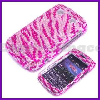 Crystal Bling Case Blackberry 9700 Bold 2 Pink Zebra
