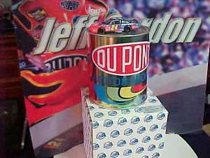 2002 JEFF GORDON #24 DUPONT PAINT CAN w 1/64 CAR INSIDE