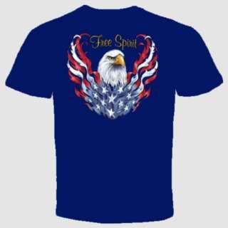 eagle spirit t shirt flag biker american motorcycle usa