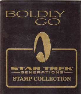 Star Trek   Generations   Boldly Go   Stamp collection