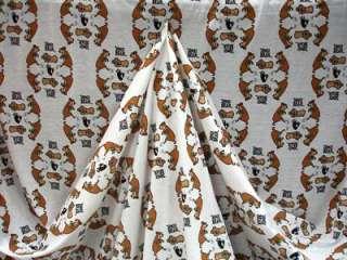 Yogi Bear & Boo Boo White Jersey Knit Cotton Fabric BTY