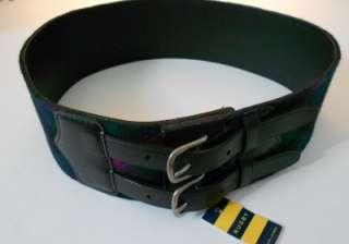 RUGBY RALPH LAUREN Women Medium $98 NWT Black Leather Wide Belt M