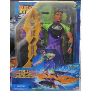 Max Steel Surf Attack & Turbo Board Toys & Games