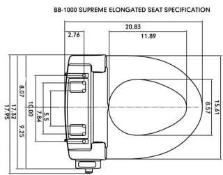 Bio Bidet BB 1000 *ELONGATED or ROUND & WHITE or BEIGE
