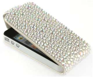 New Diamond Bling Faux Leather Case for iPhone 4 / 4G / 4S