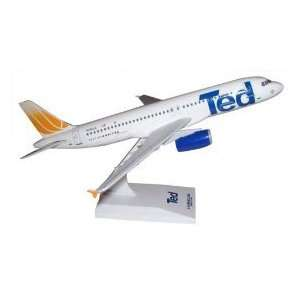 Skymarks Ted by United A320 1150 Scale Model Airplane Toys & Games