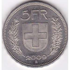 2009 B Switzerland 5 Franc Coin: Everything Else