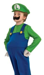 Deluxe Super Mario Brothers LUIGI Men Fancy Dress Halloween Costume