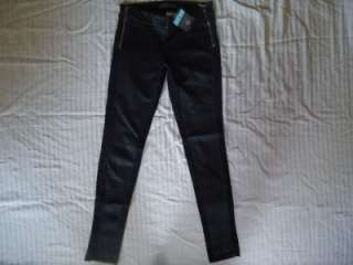 WOMENS GUESS MARCIANO DAREDEVIL BLACK SKINNY JEANS 2 26