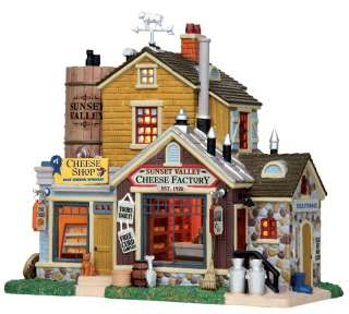 LEMAX New 2011 Christmas Village SUNSET VALLEY CHEESE FACTORY Lighted