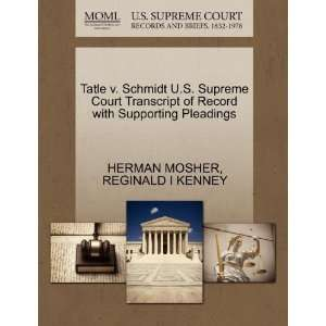 Pleadings (9781270306221) HERMAN MOSHER, REGINALD I KENNEY Books