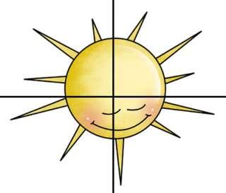 SUN MURAL FOR BARNYARD FARM NATURE SKY SCENE NURSERY BABY WALL