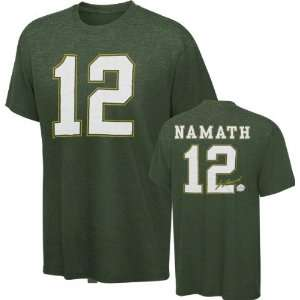 Joe Namath New York Jets Green Hall Of Fame Name & Number