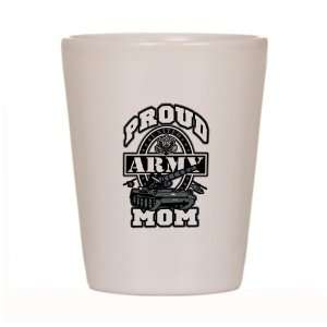 Shot Glass White of Proud Army Mom Tank