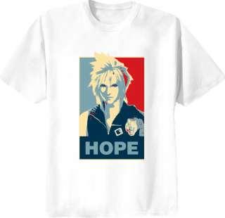 Cloud Strife Final Fantasy Hope T Shirt