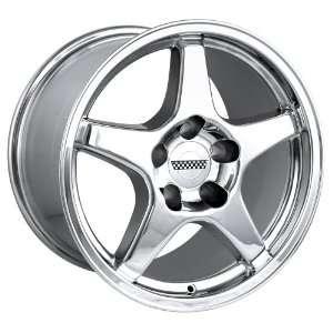 17x9.5 Detroit Style 840 (Chrome) Wheels/Rims 5x120.7 (840