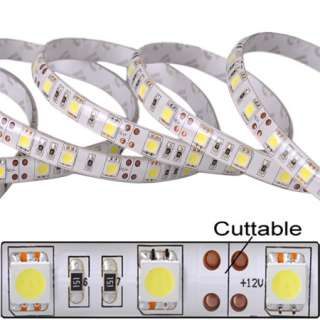 New 5M 16FT 12V Waterproof 3528 SMD LED Strip 300 LEDs Cool White High