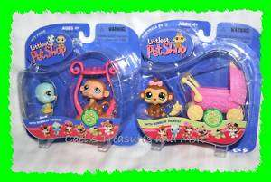 Littlest Pet Shop Lot MONKEY Blue Bird 189 190 216 NEW