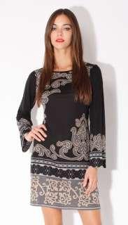 Silk Jersey Dress XS 0 2 UK 4 6 NWT $380 Byzantine Empire Black Scoop