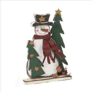 Orman Inc. 19074 25 Wooden Holiday Snowman Kitchen