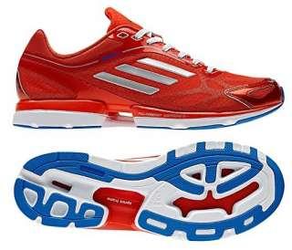 New Adidas Mens adizero RUSH Running Shoes Trainers Red White Gray