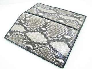 Genuine PYTHON Snake Leather Checkbook Holder Wallet
