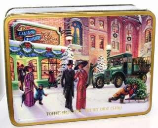 1998 Callard & Bowser Toffee Shop Christmas Holiday Tin Box Container