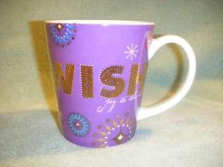 STARBUCKS COFFEE PURPLE GOLD WISH 14oz MUG CUP 2006
