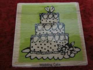 Vap Scrap Rubber Stamp Wedding Cake