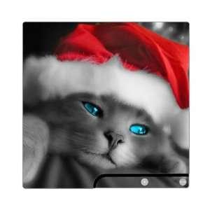 PS3 Slim Skin Decal Sticker   Christmas Kitty Cat