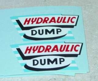 Marx Hydraulic Dump Truck Style Stickers MX 026