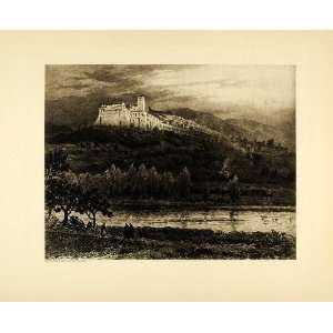 1905 Photogravure St. Francis Assisi Church Landscape Italy