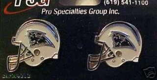 Carolina Panthers Helmet Logo Stud Post Earrings