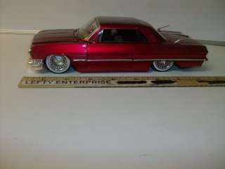 1963 CHEVY IMPALA (RED) 124 DIE CAST DOORS,HOOD,TRUNK OPENS